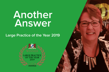 On the hot seat: Another Answer – Large Practice of the Year 2019